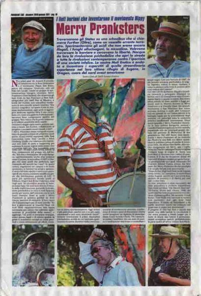 "Frigidaire n°230 di dic.2010/gen.2011 Reportage sui ""Merry Pranksters"""